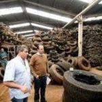 Pneu vira carvão para alto forno e mistura para concreto ecológico