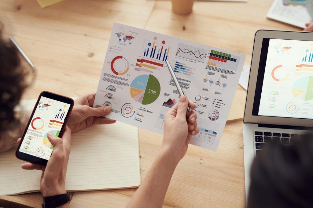 gráfico de análise de um planejamento empresarial